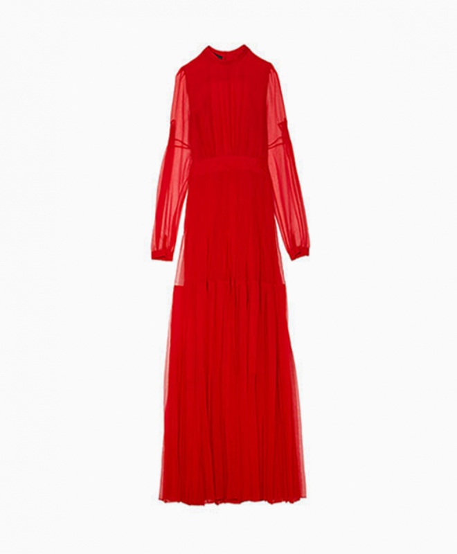 Location robe rouge ROCHAS 1