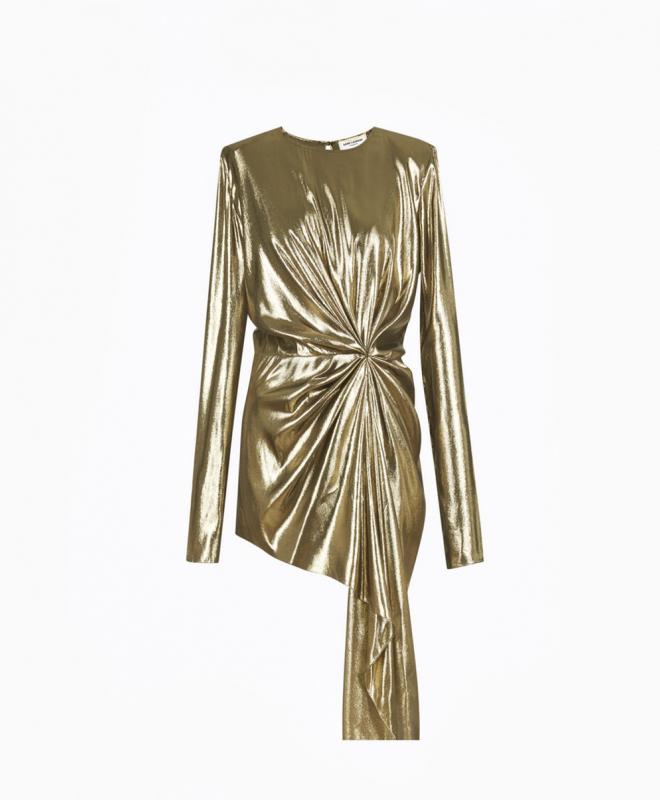 Location robe Saint-Laurent Gold 1