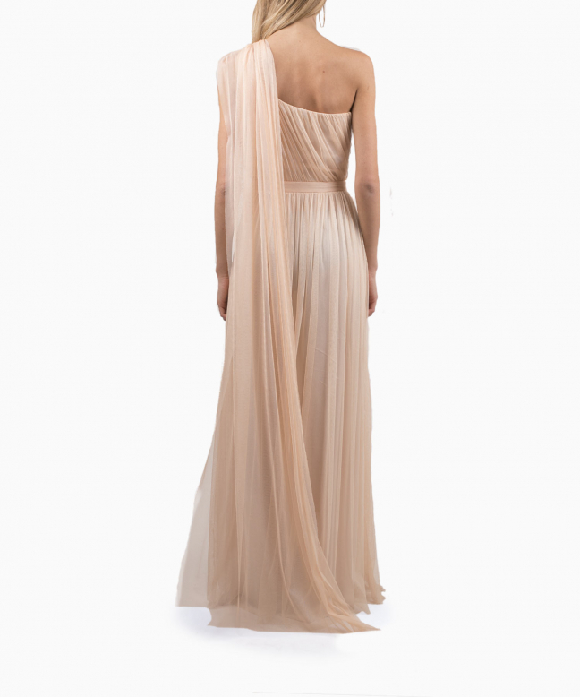 ELISABETTA FRANCHI long dress rental Blush. 3