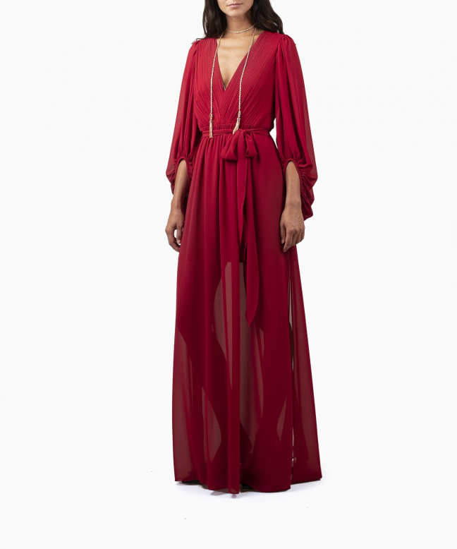 HALSTON HERITAGE long dress rental Fortuny. 2