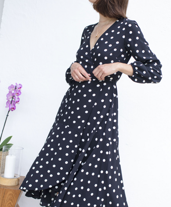 Location Robe Wallis Polka Dot Wrap 2