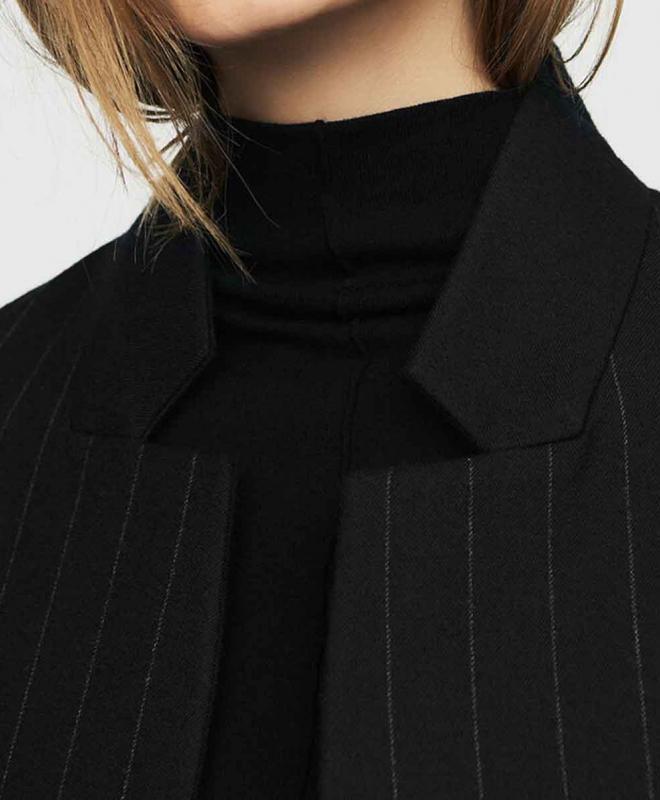 Manteau Droit à Fines Rayures 4