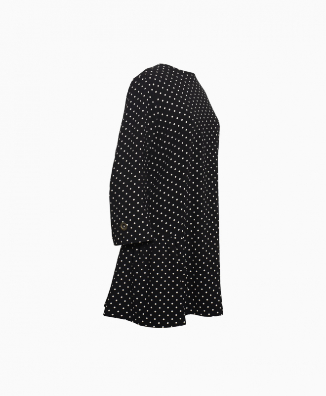Location Robe LAURENCE BRAS Polka Dot Volants 2