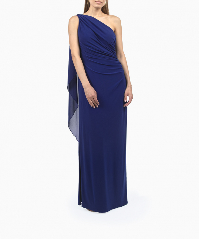 Location robe longue Ralph Lauren Georgette Cape Gown 3