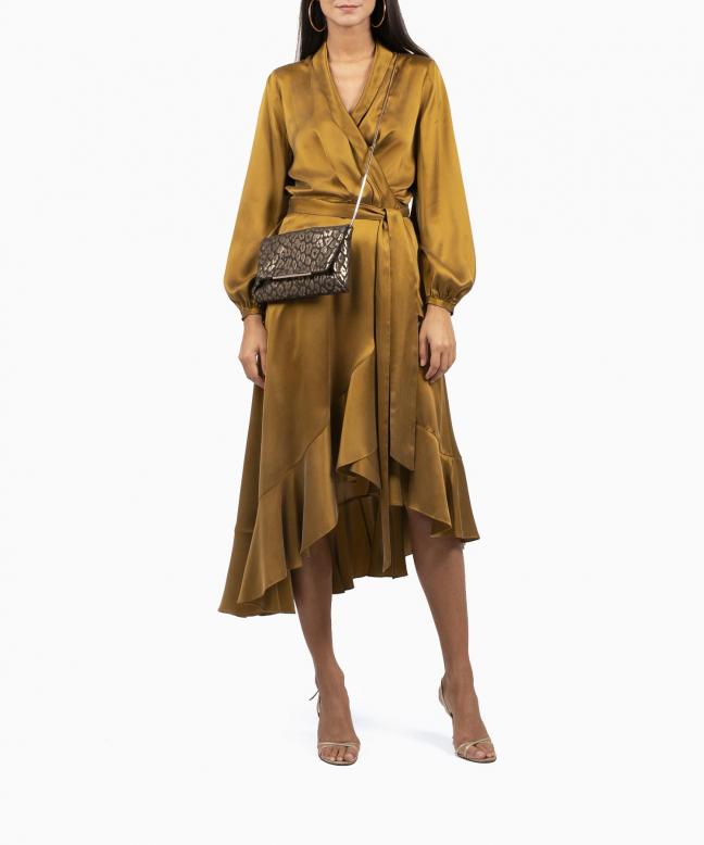 Location robe Wrap Flounce Bronze 4